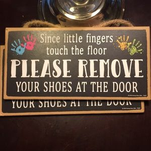 Playroom/Nursery remove your shoes signs